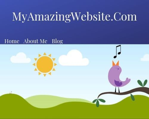 example of a simple website homepage
