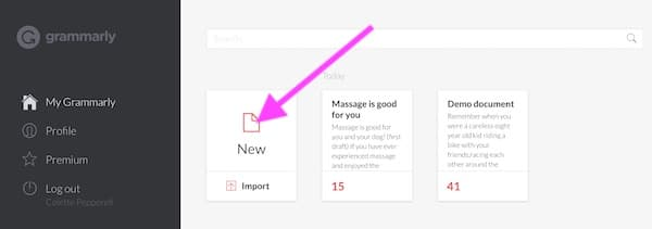 Grammarly popup showing spelling error explanation