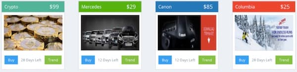 selection of clicks dealer banners from their marketplace