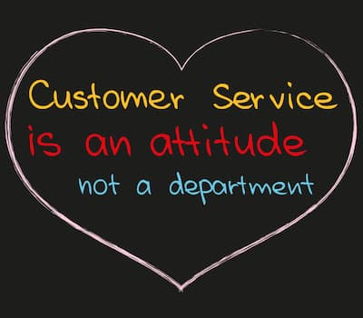customer service is an attitude not a department sign