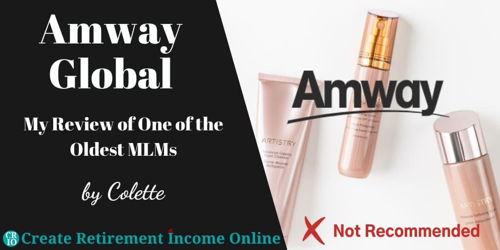 Featured Image for Amway Global Showing the Amway Logo Over an Image of Some Amway Products