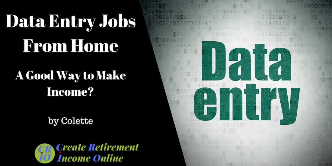 feature image for data entry jobs from home showing the words data entry on a background of computer code