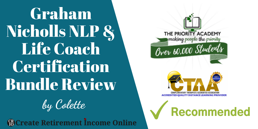 Featured Image for Graham Nichols NLP & Life Coach Certification Bundle Review Showing Company Logo and CTAA Logo
