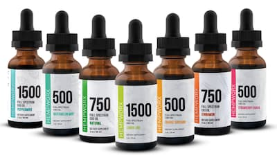 Hempworx MLM Review Image Showing Range of Hempworx CBD Oils of Different Concentrations