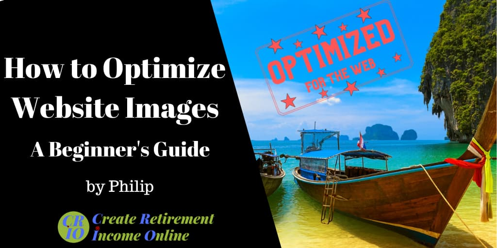 feature image for how to optimize website images showing thai fishing boat on beach with 'prioritized for web'stamp in red