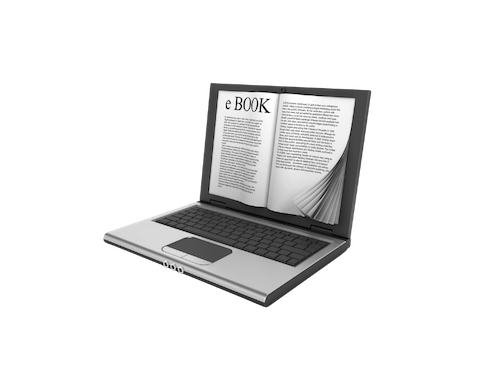 How to Write and Publish Your Own Ebook Image of a Book Superimposed on a Laptop Screen