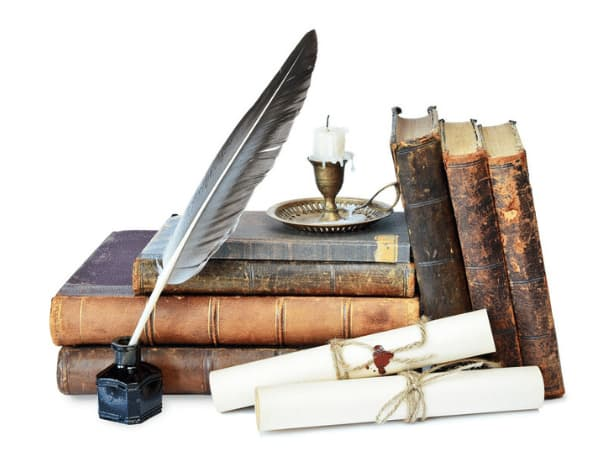 How to write and Publish Your Own Ebook Image of Some Old Books Ink Quill and Candle