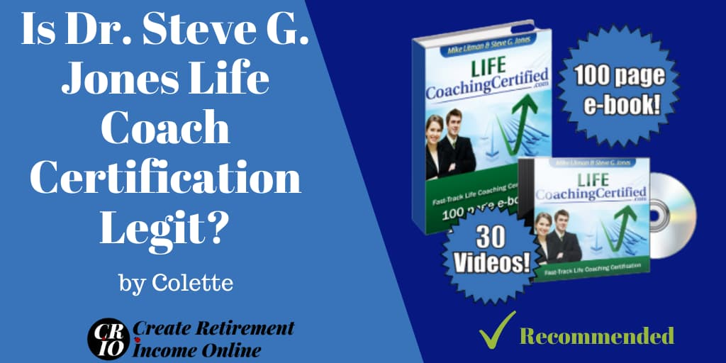 Feature Image For Is Dr Steve G Jones Life Coach Certification Legit Showing Ebook and Video