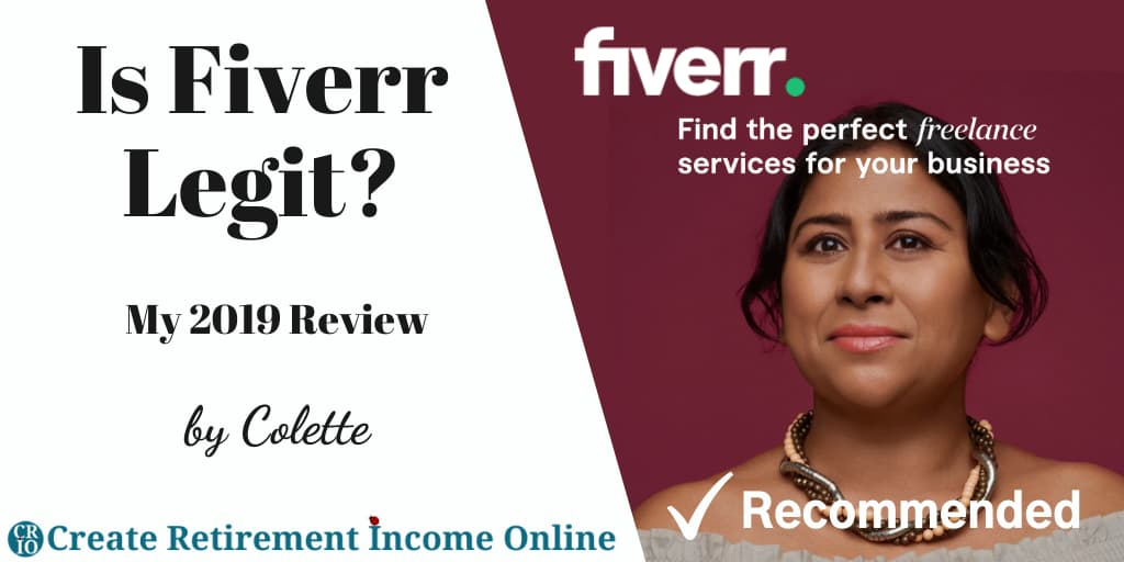 Featured Image for Is Fiverr Legit Showing Fiverr Logo Over an Image of an Attractive Multi Ethnic Woman