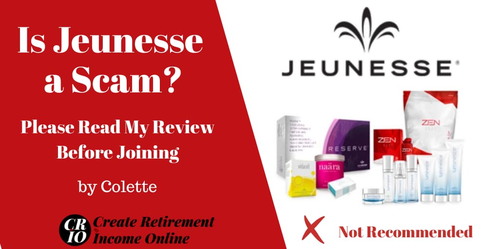 Featured Image for Is Jeunesse a Scam Showing Jeunesse Logo and a Selection of Jeunesse Products
