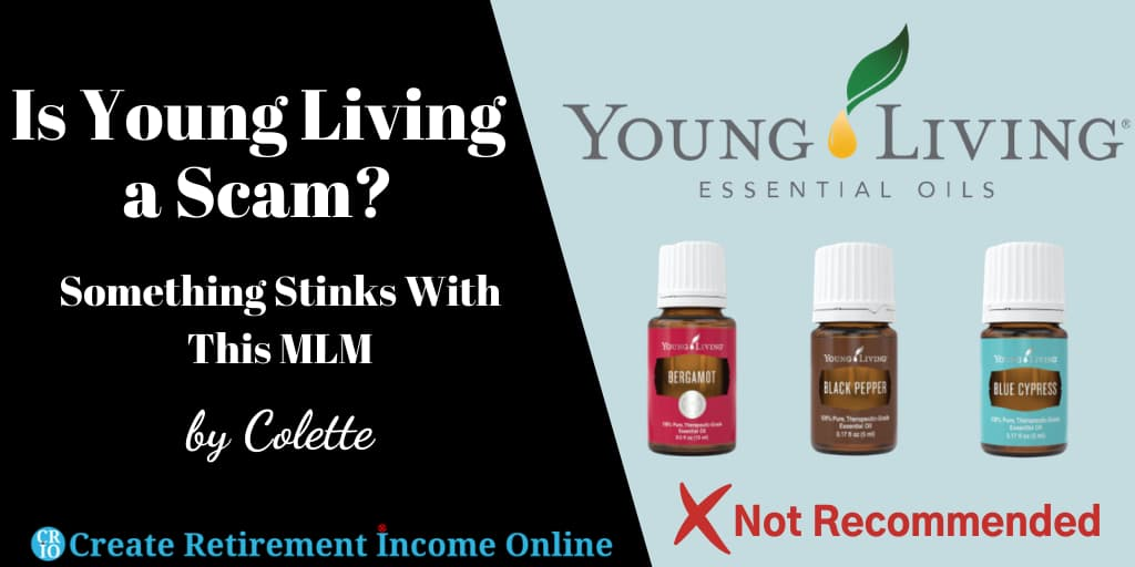 Featured Image for Is Young Living a Scam Showing Young Living Logo and a Selection of Young Living Essential Oils