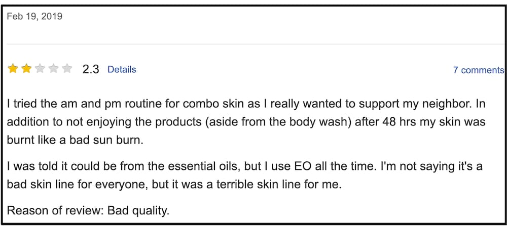 LimeLife by Alcone Customer Complaint 1 screenshot