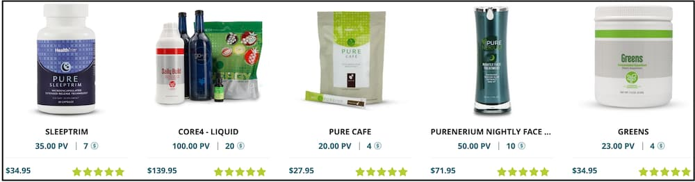 PURE MLM review best selling products image