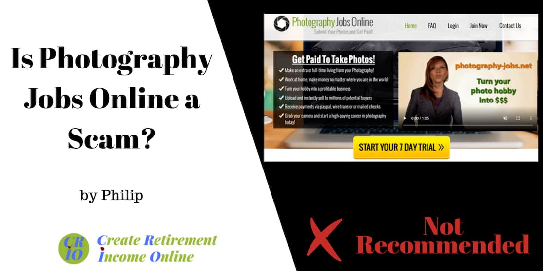feature image showing photography jobs online homepage