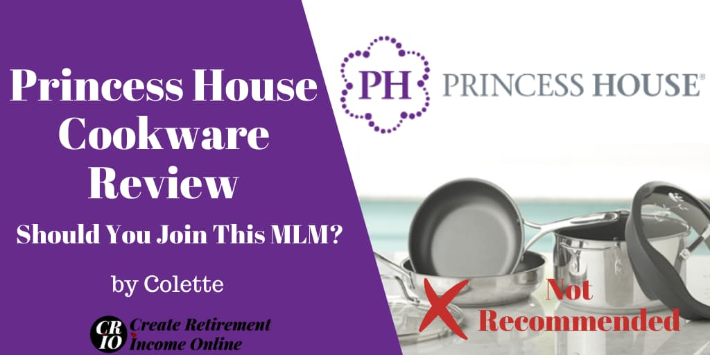 Featured Image for Princess House Cookware Review Showing Princess House Logo and a Selection of Princess House Cookware