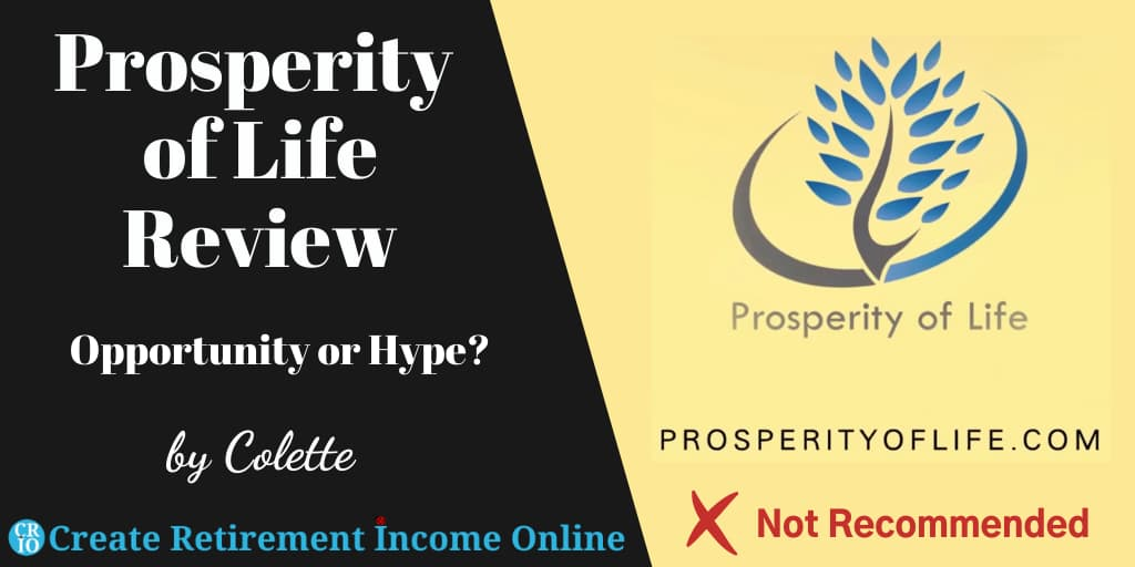 Featured Image for Prosperity of Life Review Showing Prosperity of Life Logo.