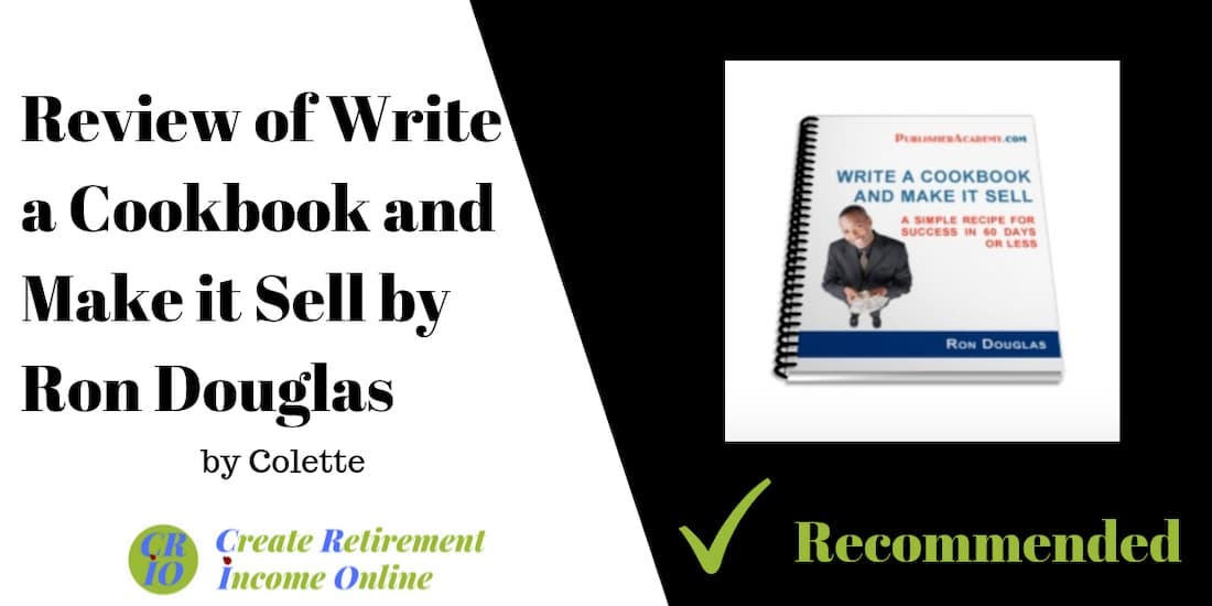 feature image for my review of write a cookbook and make it sell by ron Douglas showing product ebook