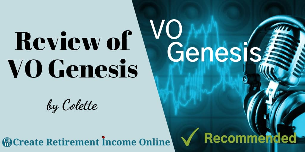 Featured Image for VO Genesis Review Showing a Microphone and headset on an electric background