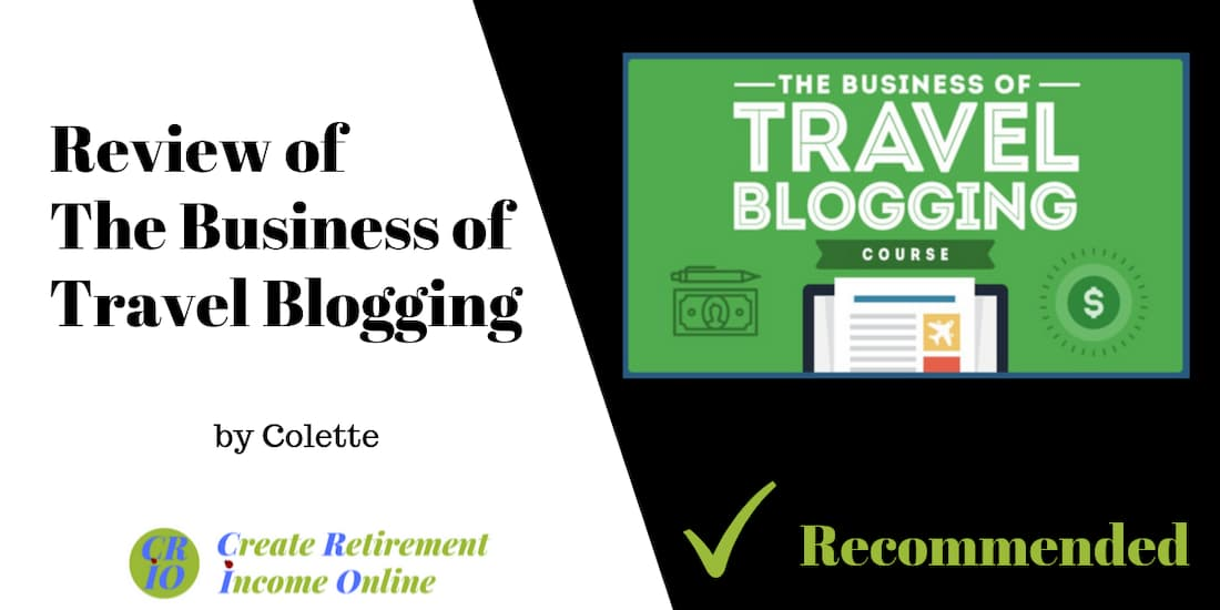 feature image showing the business of travel blogging course