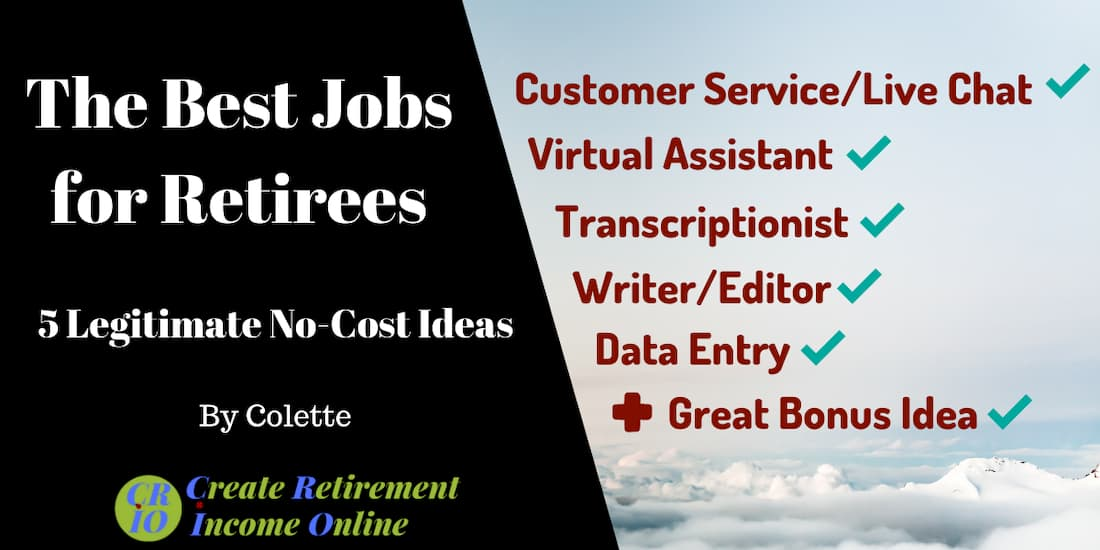 feature image for the best jobs for retirees with a list of all five ideas plus a bonus idea