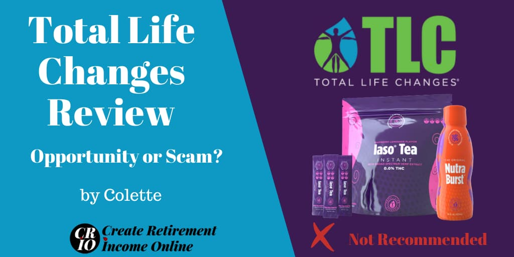 Featured Image for Total Life Changes Review Showing Total Life Changes Logo and Selection of Products