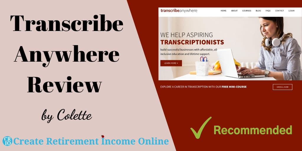 Featured Image for Transcribe Anywhere Review Showing Transcribe Anywhere Website Home Page