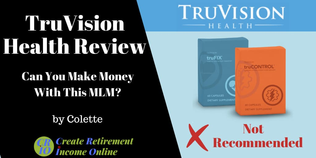 Featured Image for Truvision Health Review Showing Truvision Health Logo and two of its Products