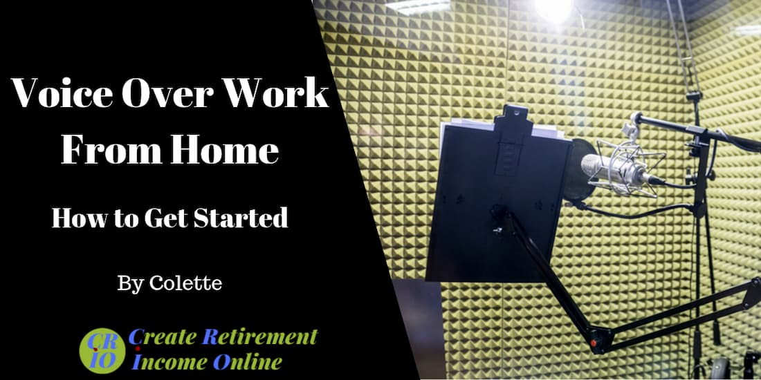 feature image for voice over work from home showing a home recording studio