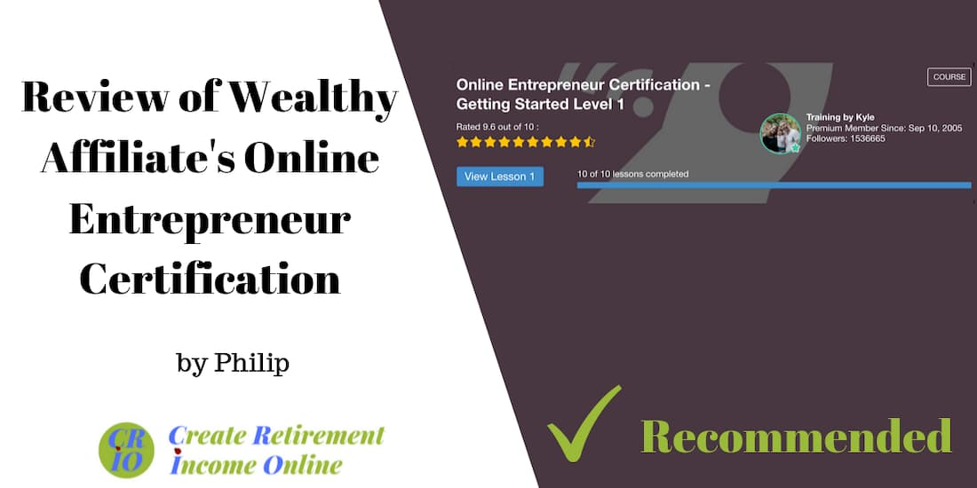 feature image showing level 1 of the online entrepreneur certification