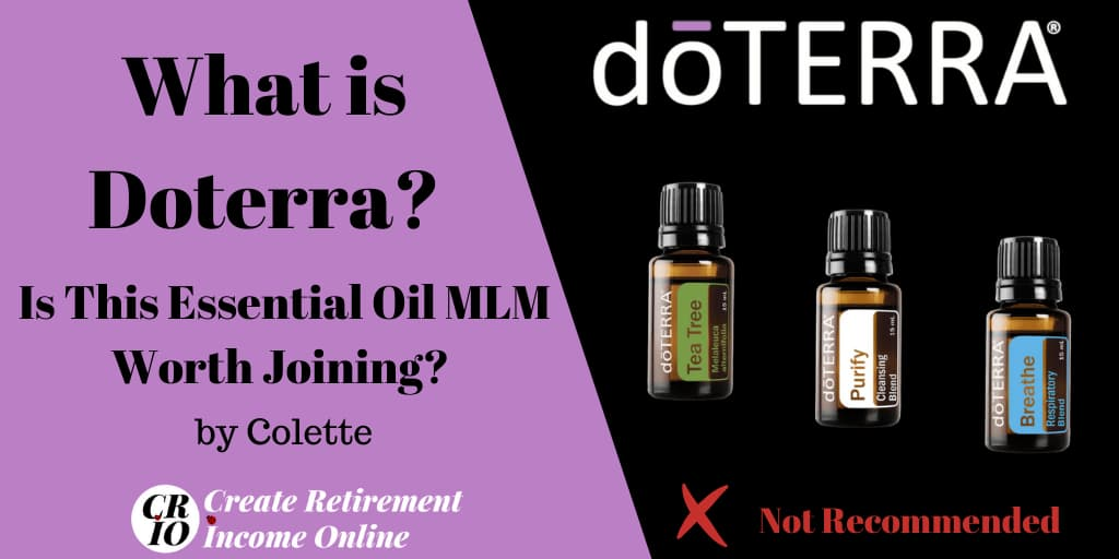 Featured Image for What is Doterra Showing Doterra Logo and Three Doterra Essential Oils
