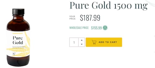 Kannaway Review image of Kannaways Pure Gold CBD OIl
