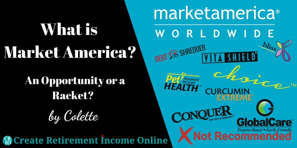 Featured Image for What is Market America Showing Market America Logo and a Selection of Featured Brands Market America